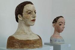 keramische Porträts