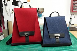 Taschen aus Wollfilz und Leder